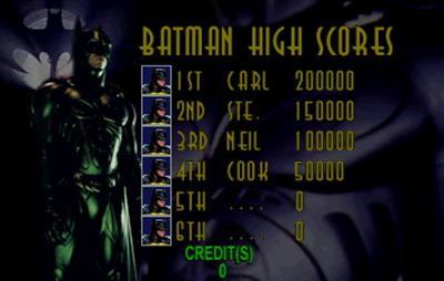 Batman Forever - Screenshot - High Scores