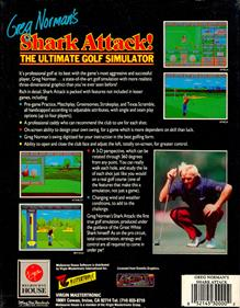 Greg Norman's Shark Attack!: The Ultimate Golf Simulator - Box - Back