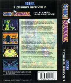 Sonic the Hedgehog Spinball - Box - Back