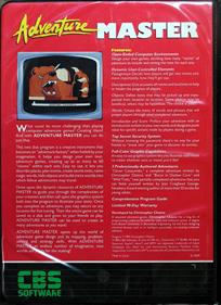 Adventure Master - Box - Back