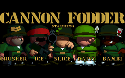 Cannon Fodder - Screenshot - Game Title