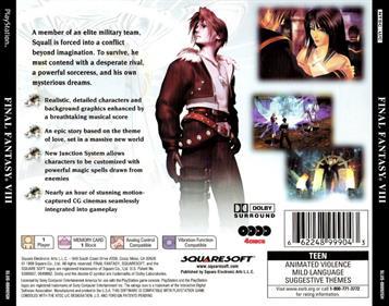 Final Fantasy VIII - Box - Back