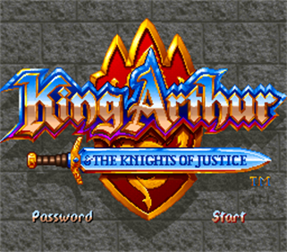 King Arthur & the Knights of Justice - Screenshot - Game Title