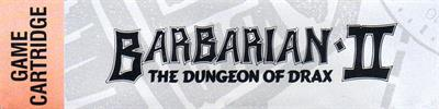 Barbarian II: The Dungeon of Drax - Banner
