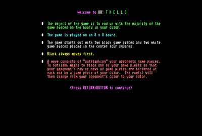 OH! Thello 128 - Screenshot - Game Title