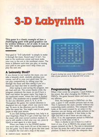 3-D Labyrinth