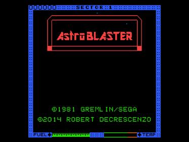 Astro Blaster - Screenshot - Game Title