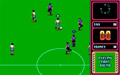 Rick Davis's World Trophy Soccer - Screenshot - Gameplay