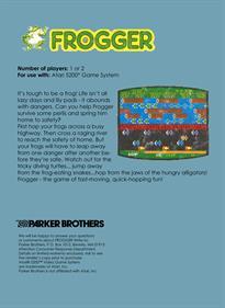 Frogger - Box - Back