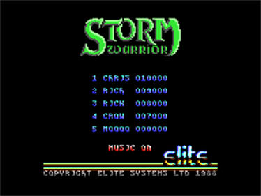 Storm Warrior (Encore) - Screenshot - High Scores