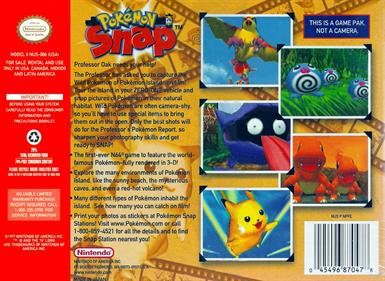 Pokémon Snap - Box - Back