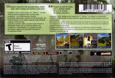 Tom Clancy's Ghost Recon: Jungle Storm - Box - Back