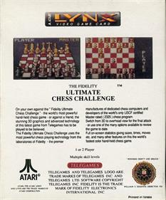 The Fidelity: Ultimate Chess Challenge - Box - Back