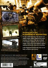 Mercenaries: Playground of Destruction - Box - Back