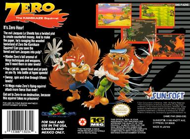 Zero the Kamikaze Squirrel - Box - Back