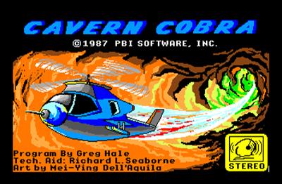 Cavern Cobra - Screenshot - Game Title