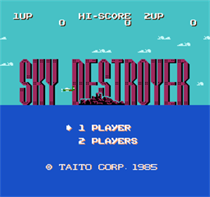 Sky Destroyer - Screenshot - Game Title