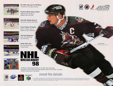 NHL Breakaway 98 - Advertisement Flyer - Front