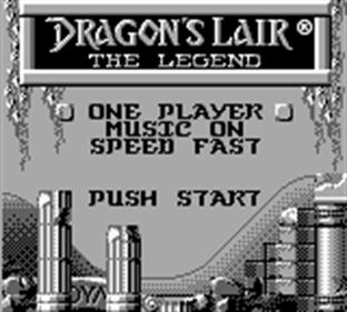 Dragon's Lair: The Legend - Screenshot - Game Select