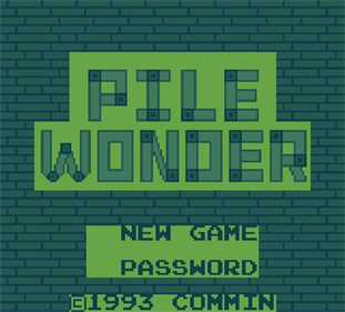 Pile Wonder - Screenshot - Game Title