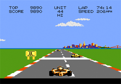 Pole Position II - Screenshot - Gameplay