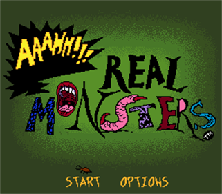 AAAHH!!! Real Monsters - Screenshot - Game Title