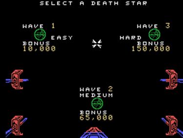 Star Wars: The Arcade Game - Screenshot - Game Select