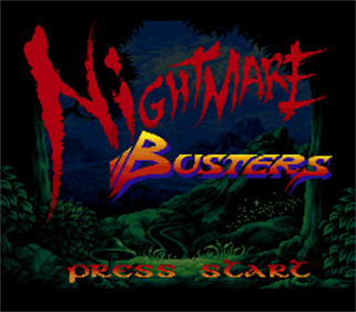 Nightmare Busters - Screenshot - Game Title