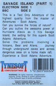 Savage Island Part One - Box - Back
