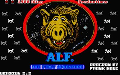 Alf: The First Adventure - Screenshot - Game Title