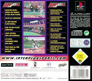 Interplay Sports Baseball 2000 - Box - Back