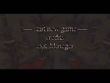 .kkrieger - Screenshot - Game Select