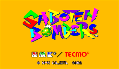 Saboten Bombers - Screenshot - Game Title
