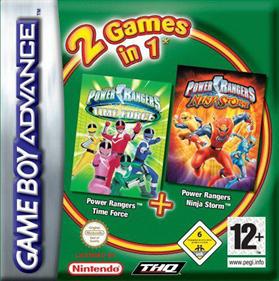 2 Games in 1: Power Rangers: Ninja Storm + Power Rangers: Time Force