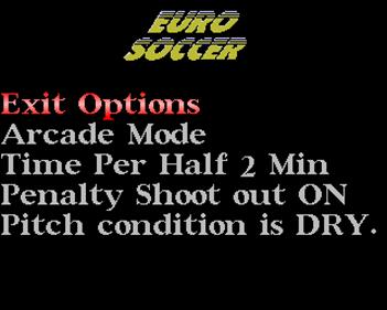 Euro Soccer - Screenshot - Game Select