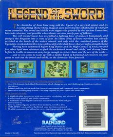 Legend of the Sword - Box - Back