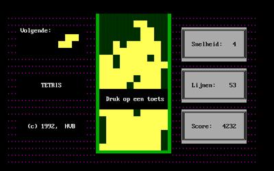 Tetris (1992) - Screenshot - Game Over