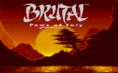 Brutal: Paws of Fury - Screenshot - Game Title