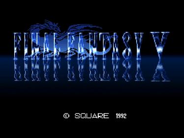 Final Fantasy V - Screenshot - Game Title