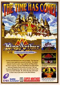 King Arthur & the Knights of Justice - Advertisement Flyer - Front