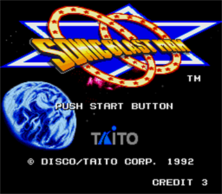 Sonic Blast Man - Screenshot - Game Title