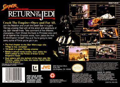 Super Star Wars: Return of the Jedi - Box - Back