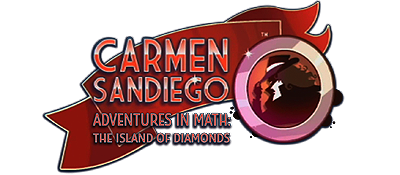 Carmen Sandiego Adventures in Math: The Island of Diamonds - Clear Logo