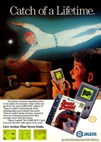 Bases Loaded for Game Boy - Advertisement Flyer - Front