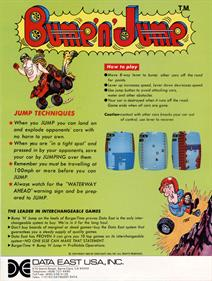 Bump 'n' Jump - Advertisement Flyer - Back