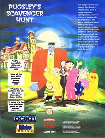 The Addams Family: Pugsley's Scavenger Hunt - Advertisement Flyer - Front