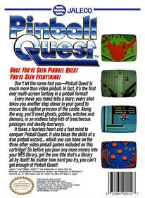 Pinball Quest - Box - Back