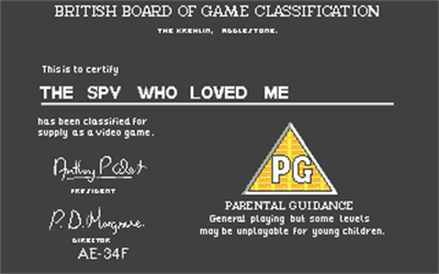 James Bond 007: The Spy Who Loved Me - Screenshot - Game Title
