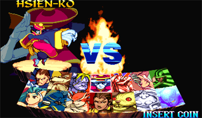 Night Warriors: Darkstalkers' Revenge - Screenshot - Game Select
