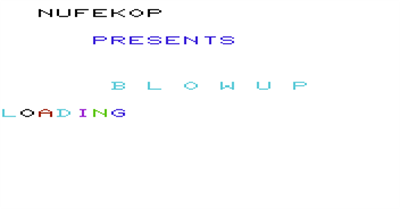 Blowup - Screenshot - Game Title